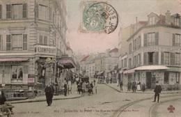 Cpa 94 JOINVILLE-le-PONT  La Rue Du Pont Prise Du Pont,colorisée, Animée, Cafés ,restaurant - Joinville Le Pont