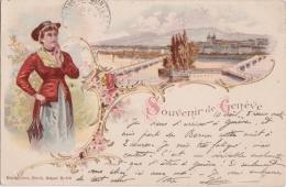 Bp - Cpa Souvenir De Genève  (écrite En 1898) - GE Geneva