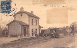 TRUN - La Gare Et Route D' ARGENTAN - Orne - 61 - Trun