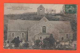 ET/176 FERMANVILLE EGLISE ET SON CLOCHER SEPARE ENVIRON DE CHERBOURG // écrite Timbre Poste - Autres Communes