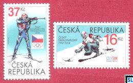 Czech Republic Stamps 2018, Paralympic Team, Sports, MNH - Czech Republic