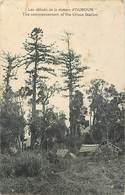 Pays Div -ref L537- Papouasie - Nouvelle Guinée- Les Debuts De La Station D Ouroun /- Legeres Taches Par Endroits - Papua Nuova Guinea
