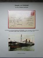 Ausstellungssammlung SCHIFFSPOST - Teil 1b US - French Sea Post 1912-1917 - Bateaux