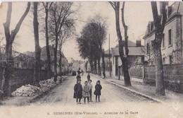 BESSINES ,,,AVENUE De La  GARE,,,,, Carte Ecrite - Bessines Sur Gartempe