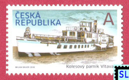 Czech Republic Stamps 2018, Historical Vehicles, Paddle Steamer Vltava, Ship, MNH - Czech Republic