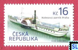 Czech Republic Stamps 2017, Historical Vehicles, Paddle Steamer Prague, Ship, MNH - Czech Republic