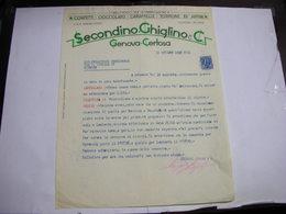 GENOVA - CERTOSA   -- CIOCCOLATO.CACAO - BISCOTTI  -- AFFINI --    CIOCCOLATO  SECONDINO , GHIGLINO & C. - Italia