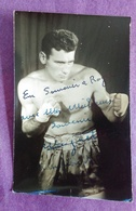 PHOTO BOXE DEDICACEE : à Identifier - Boxing
