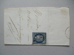 FRANCE - 1850`s Piece Tied With Ceres 25c Deep Blue - 1849-1850 Ceres