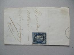 FRANCE - 1850`s Piece Tied With Ceres 25c Deep Blue - 1849-1850 Cérès