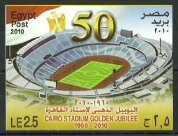 Egypt - 2010 - ( Cairo Stadium Golden Jubilee, 1960 - 2010, 50th Anniv. ) - Imperf. S/S - MNH (**) - Nuovi
