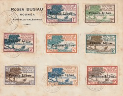 Nouvelle Caledonie - Serie France Libre195 A 229 Oblitéré Sur Lettre (non Circulée Datée Du 16 Mai 1941 RARE - Nouvelle-Calédonie
