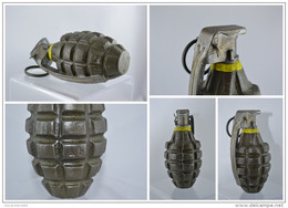 REPRODUCTION Grenade Américaine MK2 Monobloc Avec Allumeur M6A3 - Militaria