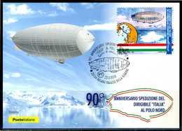 """ITALIA / ITALY 2018 - Dirigibile """"Italia"""" Al Polo Nord - Maximum Card Come Da Foto - Zeppelins"""