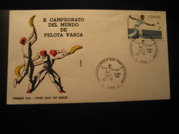 PELOTA VASCA Deportes Vascos Basque Sports World Championship VITORIA Alava 1986 FDC Cancel Cover Game Games SPAIN - Games
