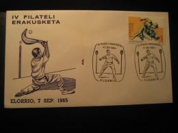 PELOTA VASCA Deportes Vascos Basque Sports ELORRIO Vizcaya 1985 Cancel Cover Game Games SPAIN - Giochi