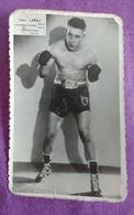 PHOTO BOXE : LABAJ Léon, Champion De France, Professeur Lebihan. - Boxing