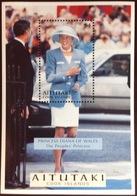 Aitutaki 1998 Princess Diana Minisheet MNH - Aitutaki