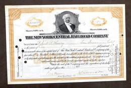 Collezionismo Certificato Azionario New York Central Railroad Company 100 $ 1927 - Non Classificati