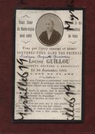 Faire-part De Décès - (1902) Memento Madame Auguste Queinnec Née Louise Guillou - Landivisiau - Kerzourat - Obituary Notices
