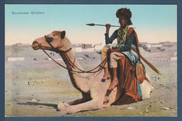 Egypt - Rare - Vintage Egyptian Post Card - ( Sudanese Soldiers ) - Egypt