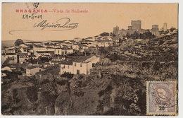 Bragança Vista De Sudoeste  Ediçao De Adriano Rodrigues Timbrée Vers Auch Gers  Coin Inf. Droit Pli - Bragança
