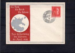 Schmuckbrief 20. April 1938 - Sonderstempel Nürnberg - Germania