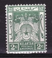 Malaya Kelantan 1921 Two Cent Green Mounted Mint Stamp. - Kelantan