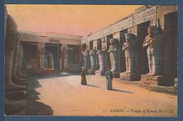 Egypt - Rare - Vintage Egyptian Postal Card - ( KARNAK - Temple Of Ramses III ) - Egypt