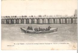"""LE TREPORT Le Canot De Sauvetage Ramenant L'équipage Du """"Saluto"""" 8 Novembre 1904 - Le Treport"""