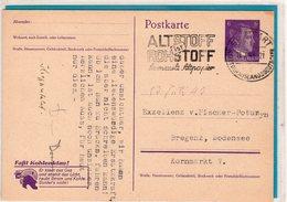 Ganzsache Mit Zudruck - Stuttgart 1943 - Germania