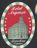 étiquette Valise  -  Hôtel Arycasa  à Barcelona  (Barcelone)    Espagne - Hotel Labels