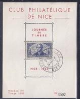 Bloc Souvenir Journee Du Timbre 1942 Nice La Perouse - France