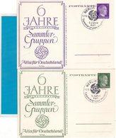 2 Ganzsachen Privat - 6 Jahre Sammlergruppen - Sonderstempel Berlin 1942 - Germania