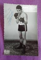 PHOTO BOXE DEDICACEE : JAMET André.  Poids Léger. Manager R. Bernard. - Boxing