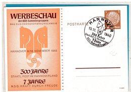 Ganzsache Privat Werbeschau - Sonderstempel Hannover 1940 - Germania