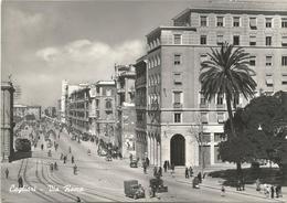 X1843 Cagliari - Via Roma - Auto Cars Voitures Tram / Viaggiata 1956 - Cagliari