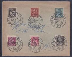 2 Enveloppes Locales Journee Du Timbre 1942 Nice Avec Serie Armoiries Blason - France
