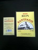 CUBA étiquette Etiqueta Label RHUM RON SANTIAGO - Rhum