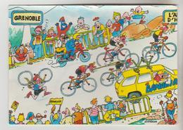 CPM  HUMOUR  CYCLISME TOUR DE FRANCE - 1984 Etape Grenoble L'Alpe D'Huez Pub BANANIA - Humor
