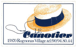 Autocollant / Sticker Le Canotier, Rognonas Village - Autocollants