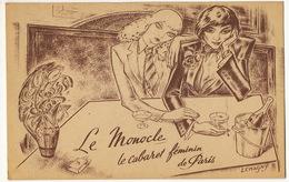Le Monocle Cabaret Feminin De Paris 60 Rue Edgar Quinet Paris 14 Lesbiennes Par Lemagny Né Dainville Meuse - District 14
