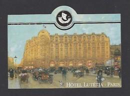 étiquette Valise  -  Hôtel Lutétia  à  Paris  France - Hotel Labels