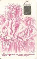 CARTE°-PUCE-POLYNESIE-PF9a -SC4-150U-0U-VAHINE FUSHIA--V° -5GE-N°40322-UTILISEE-TBE- - French Polynesia