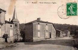 MOUTIERS  -  Route D' Auboué Et Eglise - Otros Municipios