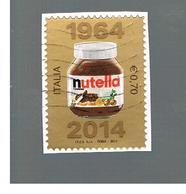 ITALIA REPUBBLICA  -   2014   - NUTELLA  FERRERO      -   USATO  ° - 6. 1946-.. Repubblica