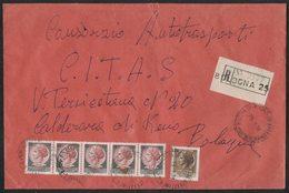 QS80   Storia Postale 1978, Busta Racc. Affrancata Con Striscia Siracusana £.130 X5 + £.20 - 6. 1946-.. Repubblica
