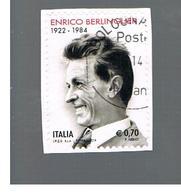 ITALIA REPUBBLICA  -   2014   - E. BERLINGUER     -   USATO  ° - 6. 1946-.. Repubblica