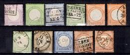 Allemagne/Reich Onze Classiques Oblitérés 1872/1874. Bonnes Valeurs. B/TB. A Saisir! - Allemagne