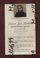 Faire-part De Décès - (1904) Memento Madame Jean Mercier - Landivisiau - - Obituary Notices